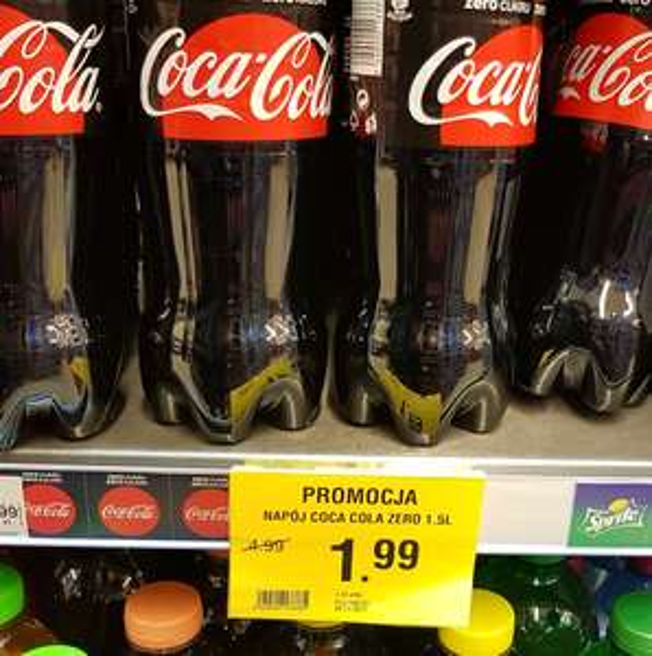 Coca-Cola Zero 1.5l za 1.99 zł