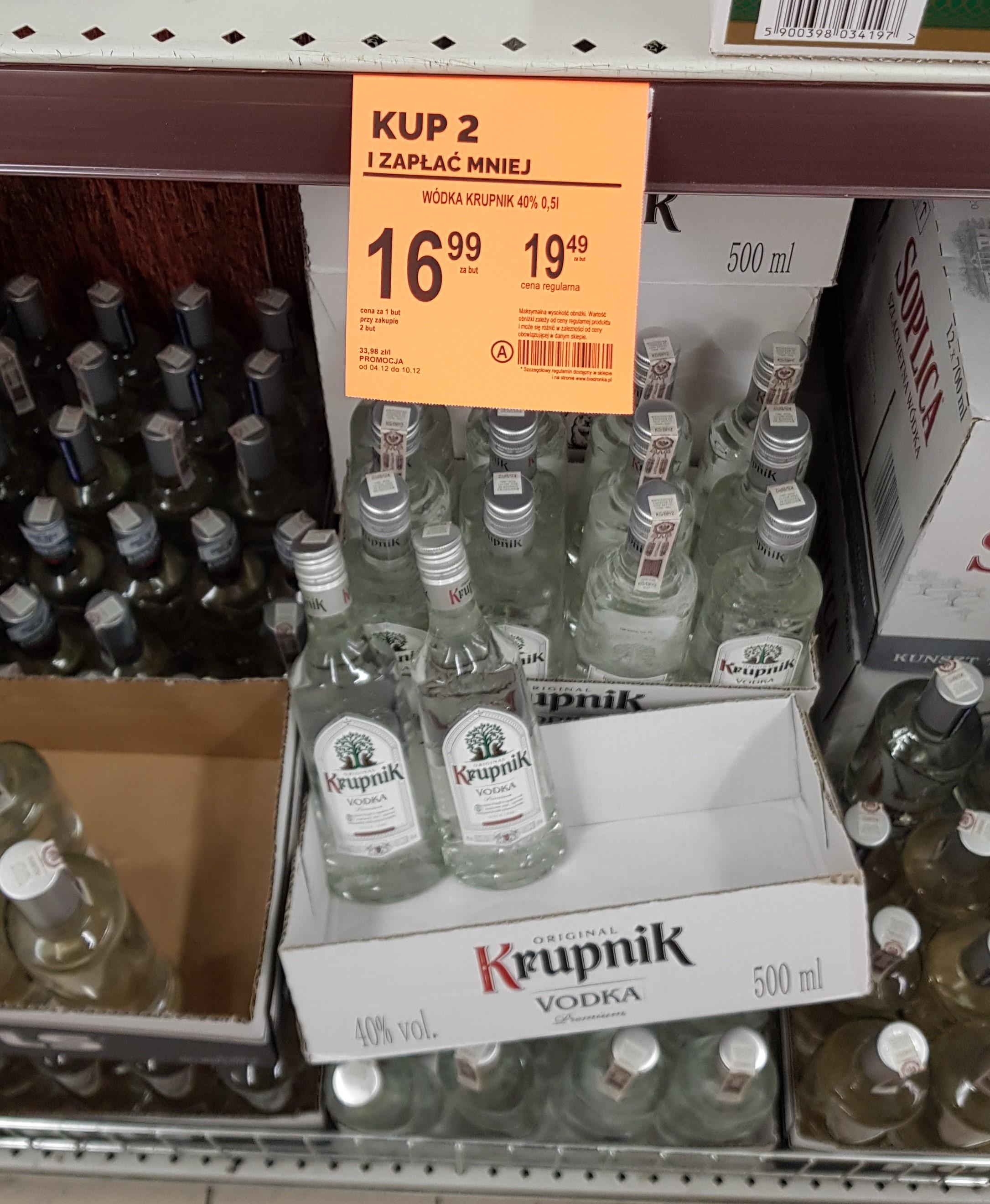 Wódka Krupnik 40% 0,5 l