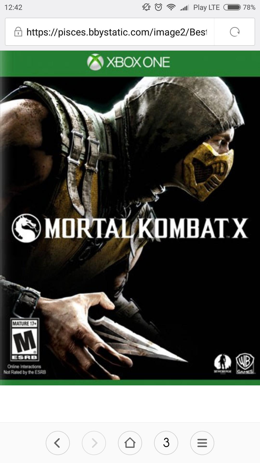 Mortal Kombat X Xbox One [Digital Code] 19,99$ (72pln)