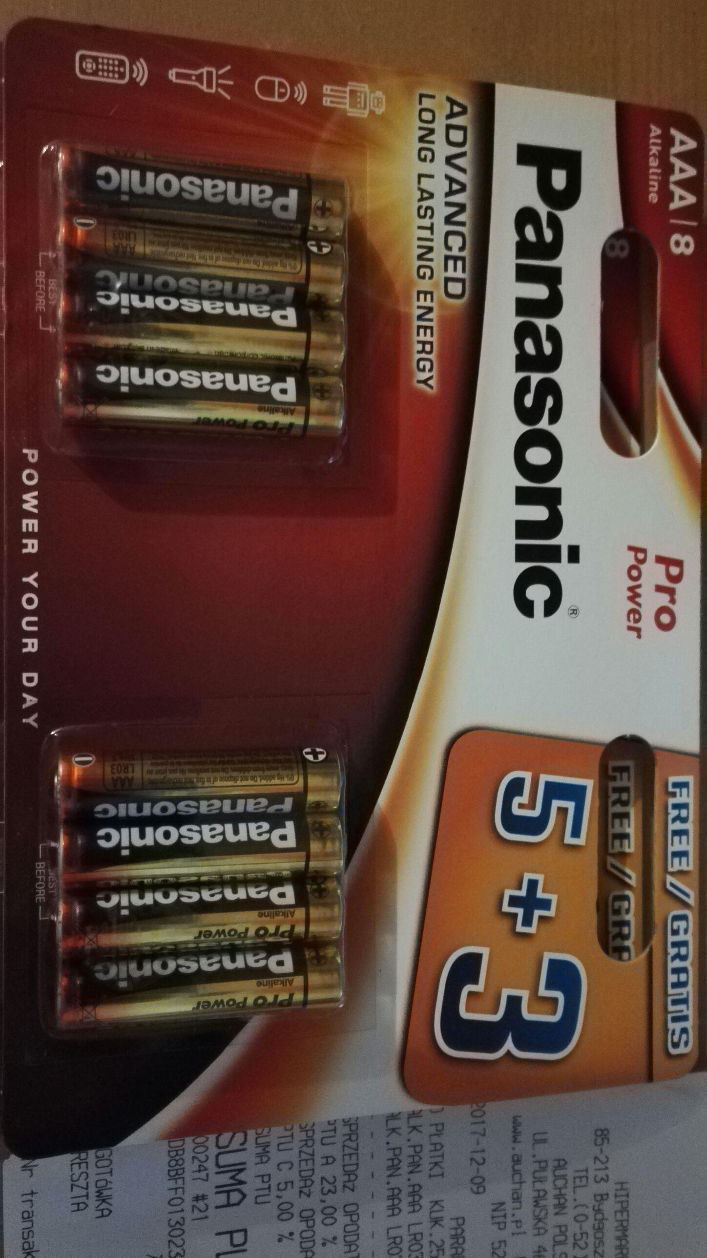 Baterie AAA panasonic 5+3