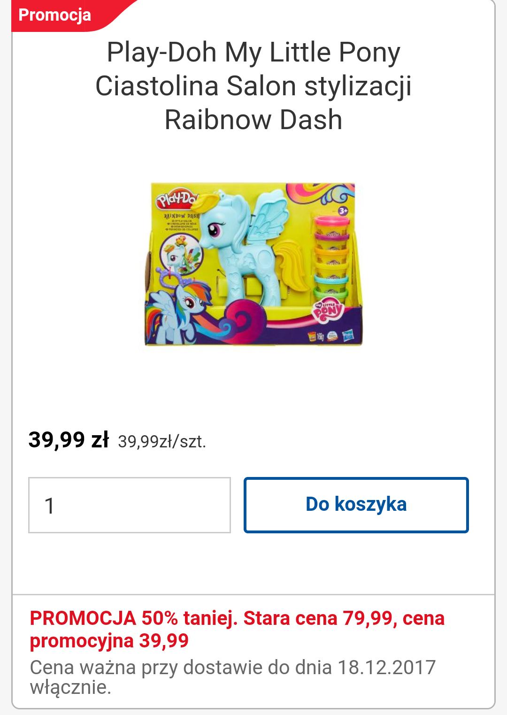 Play-Doh Ciastolina My little Pony Salon fryzjerski Rainbow Dash @Tesco