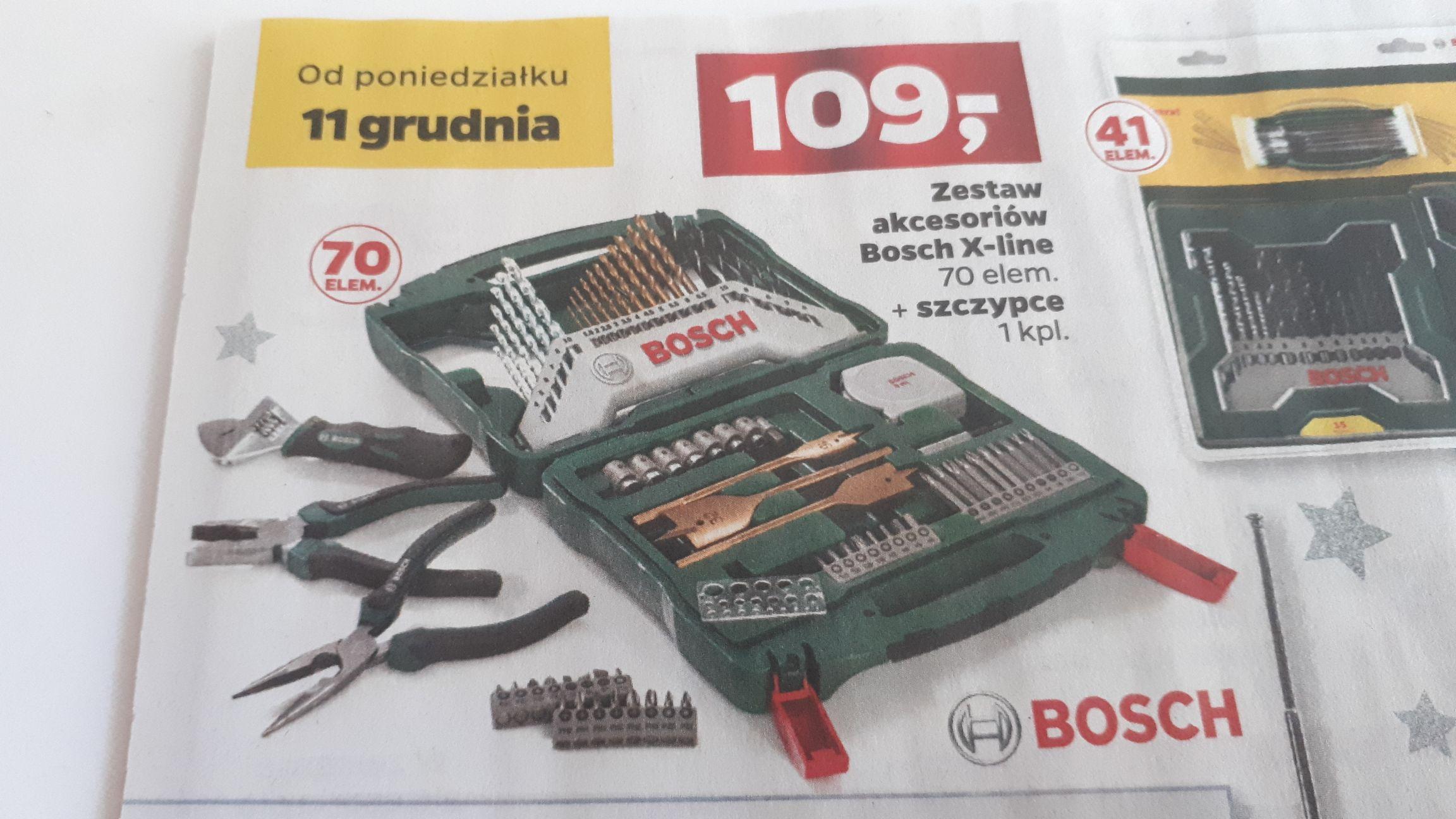 Zestaw akcesoriów Bosch X-line. + szczypce.