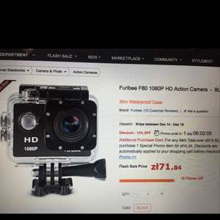Kamera sportowa furibee F80 1080P 50% taniej