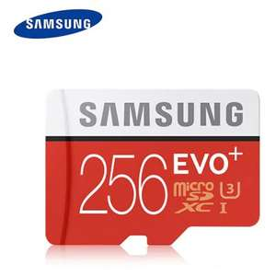 Original Samsung UHS-3 256GB Micro SDXC Memory Card  -  256GB  ORANGE