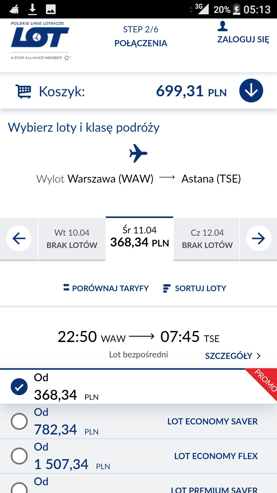 Promo na Loty do Kazachstanu