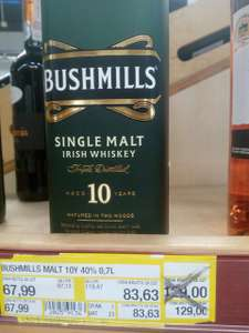 Bushmills 10Y single malt 0,7