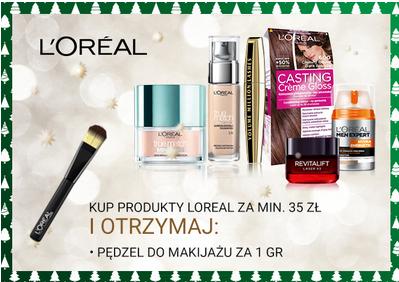 Pędzel do makijażu za 1 grosz przy zakupie produktów Loreal za 35zł @ Natura