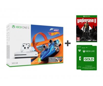Xbox One S 500GB + ForzaHorizon 3 (+ How Wheels) + Wolfenstein II New Colossus + 6 miesięcy GOLD za 999zł @ X-Kom