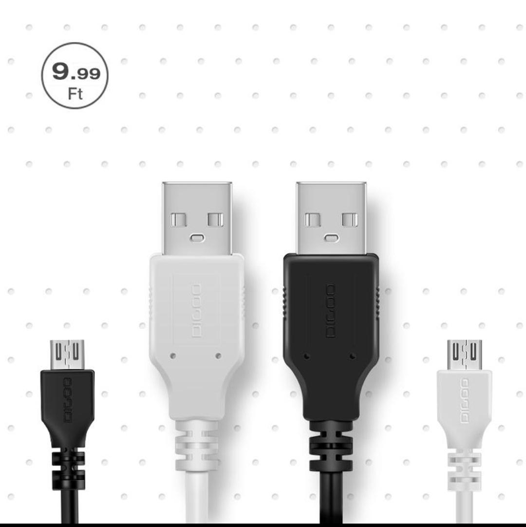 Digoo DG-BB-13MW 9.99ft 3m Long Micro USB
