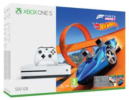 Microsoft Xbox One S 500GB Forza H3+Hot Wheels+6M LIVE