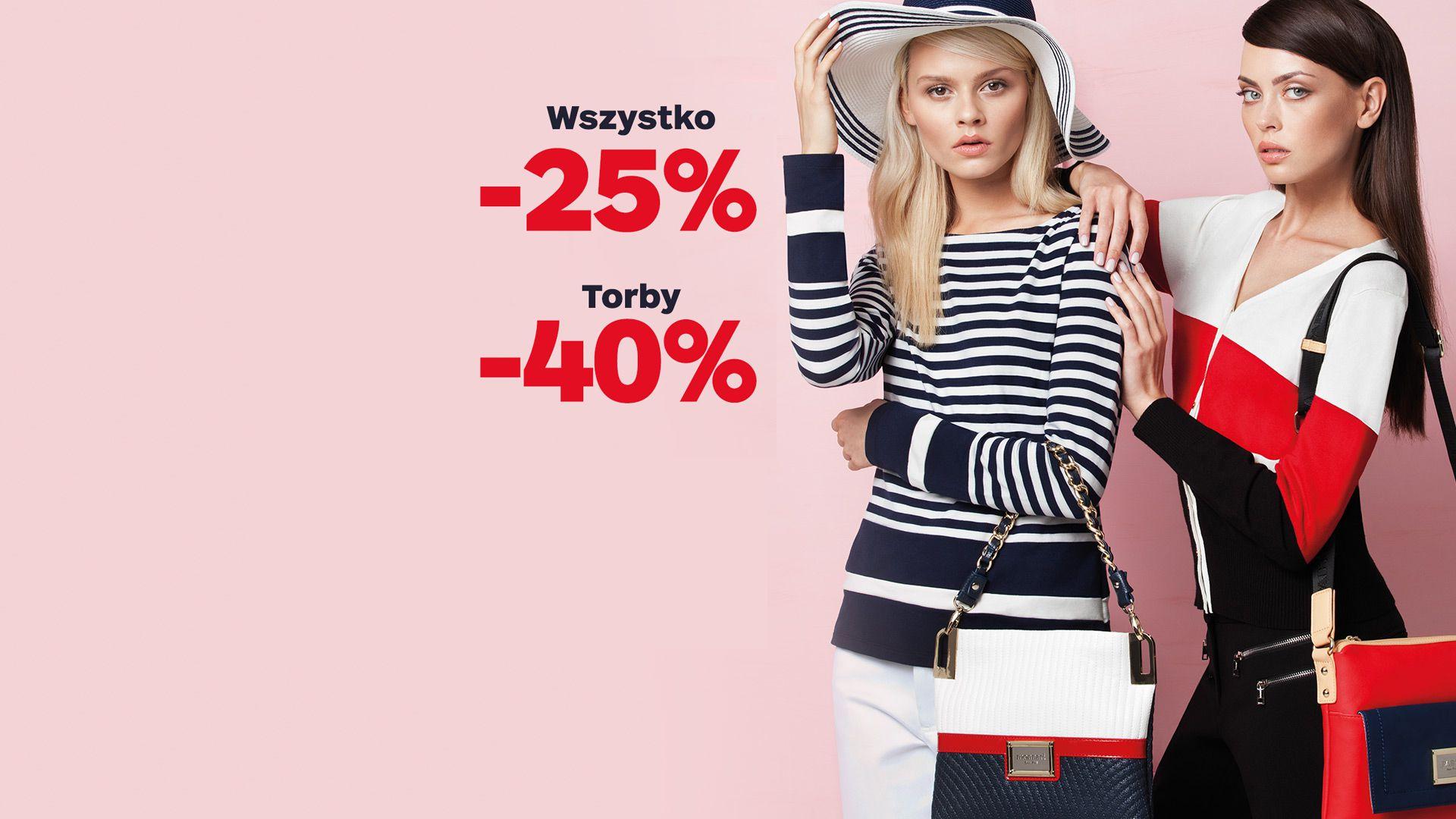 Rabat -40% na torby i -25% na wszystko @ Monnari