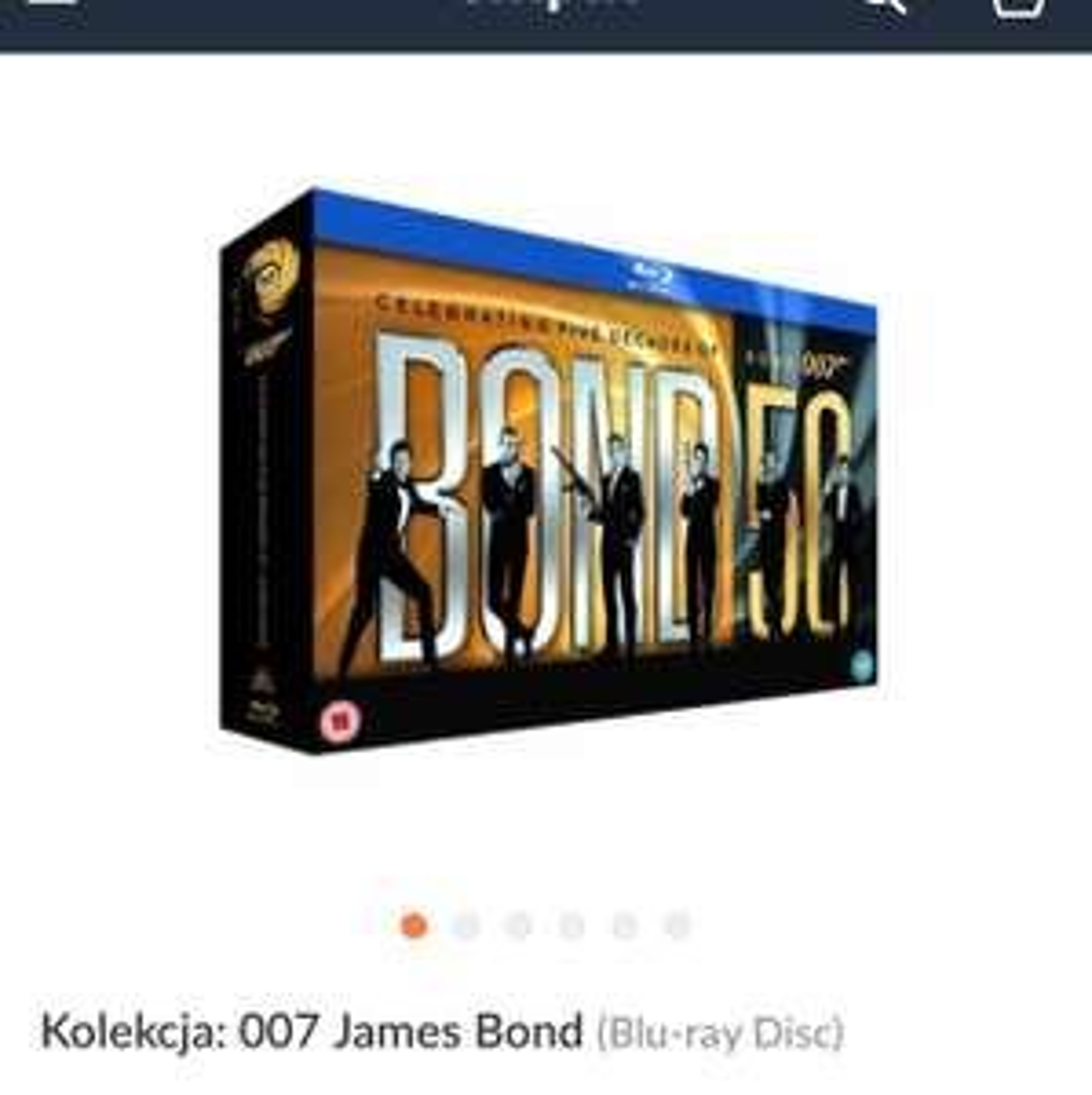 Kolekcja na 50 lecia Bonda na blu-ray