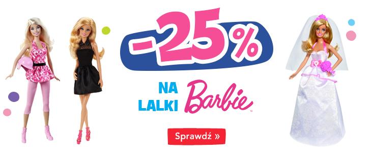 Rabat 25% na lalki Barbie @ ToysRus