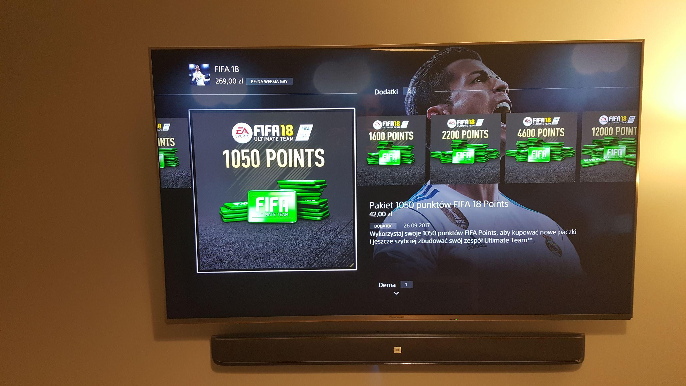 FIFA points gratis przy zakupie PS+ 12msc