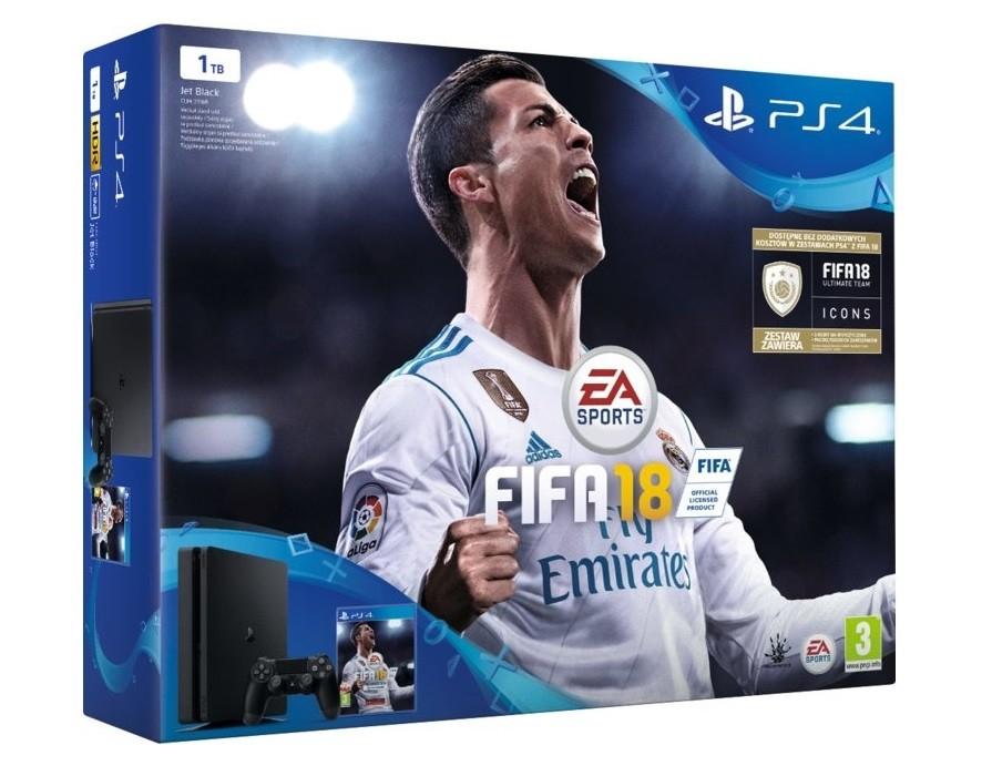 Playstation 4 slim 1TB + FIFA 18 za 1099zł @ Carrefour