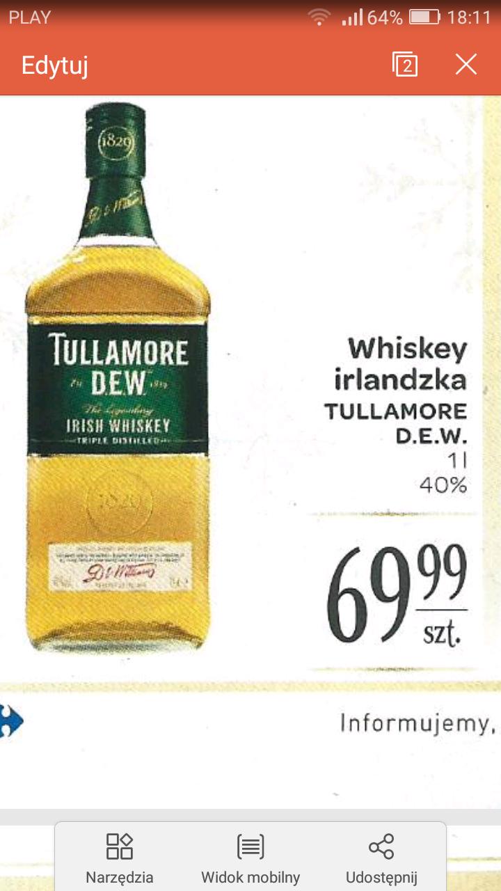 Carrefour, Tullamore D.E.W 1 l. za 70 zł i inne