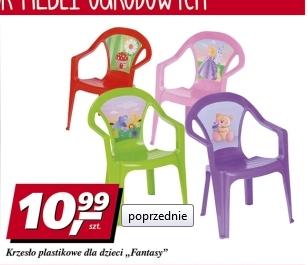Plastikowe krzesełko ogrodowe dla dzieci w cenie 10,99zł @ Real