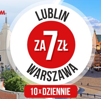 Warszawa <-> Lublin za 7 zł PolskiBus
