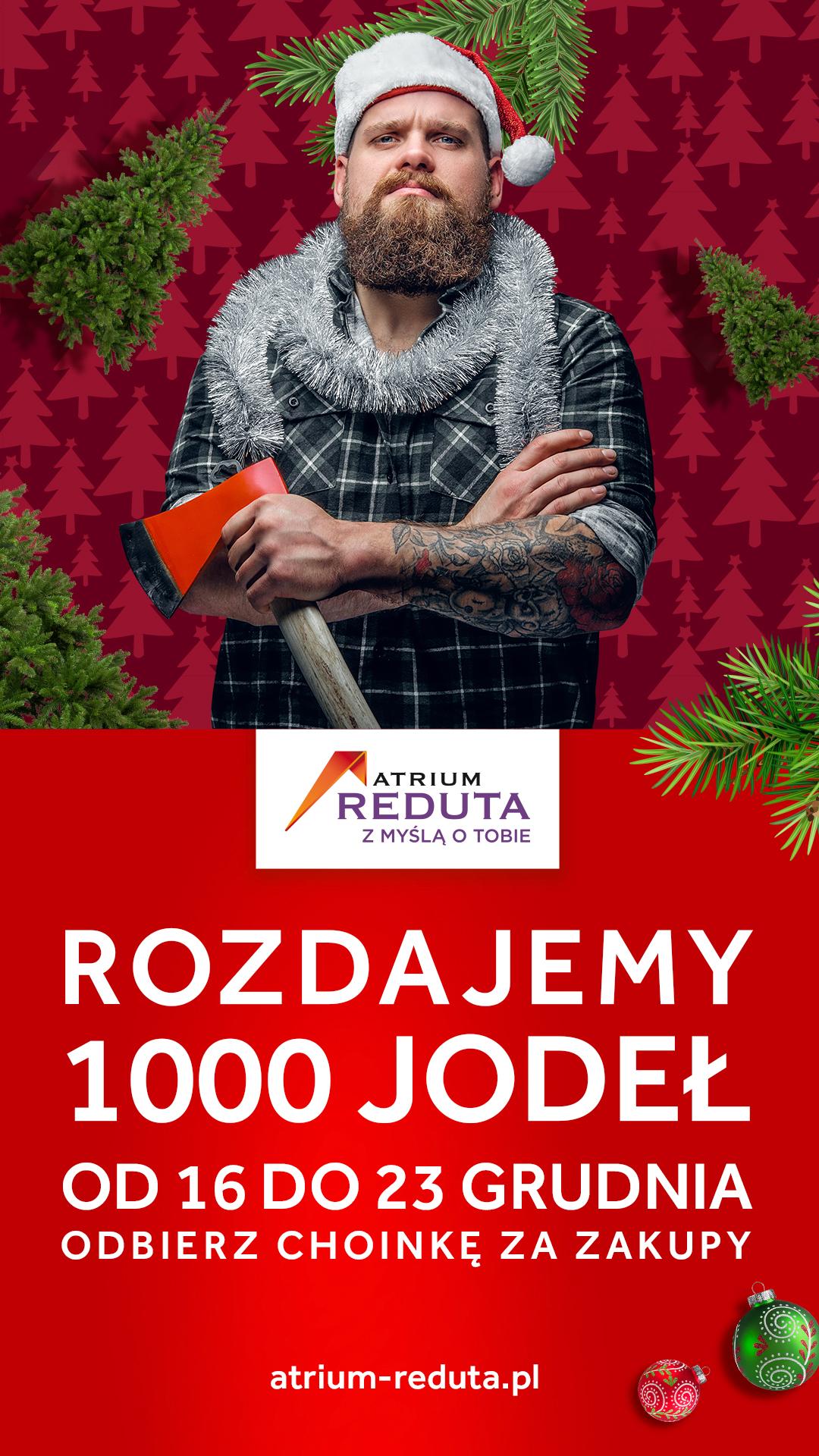 O choinka! 1000 jodeł za zakupy w Atrium Reduta