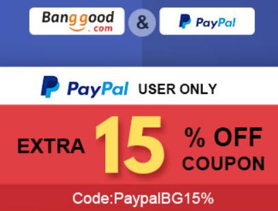 -15%   na Banggod przy płatności PayPal