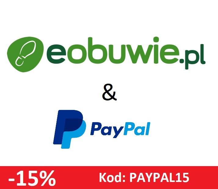 -15% na cały asortyment eobuwie.pl przy płatności PayPal