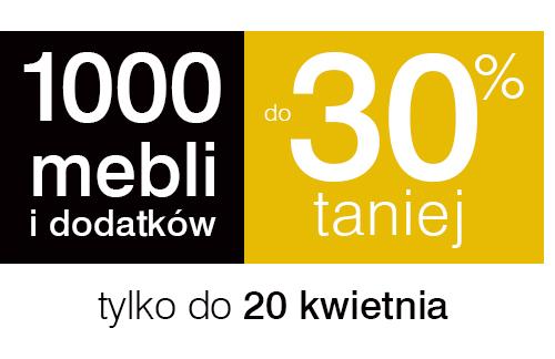 1000 mebli i dodatków do 30% taniej @ Black Red White