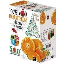 Sok mandarynkowy NFC - 100 % 3 litry !