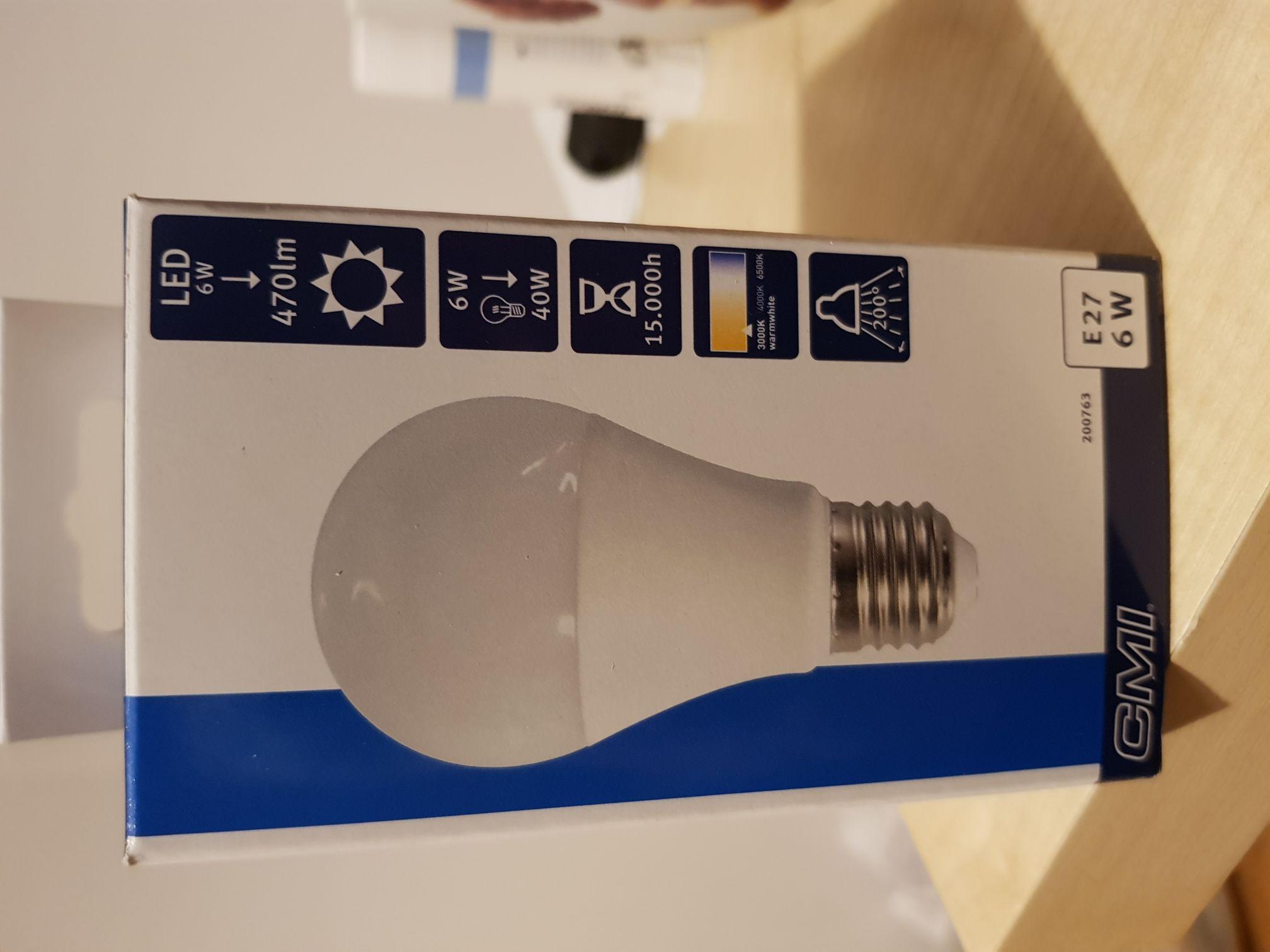 Żarówka LED CMI, 6W 470lm, 15.000h, 3000K, Obi