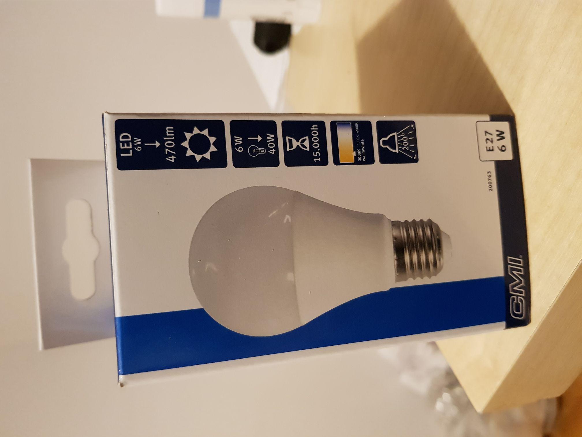 Żarówka LED, 6W, 470lm, 15.000h, 3000K, Obi
