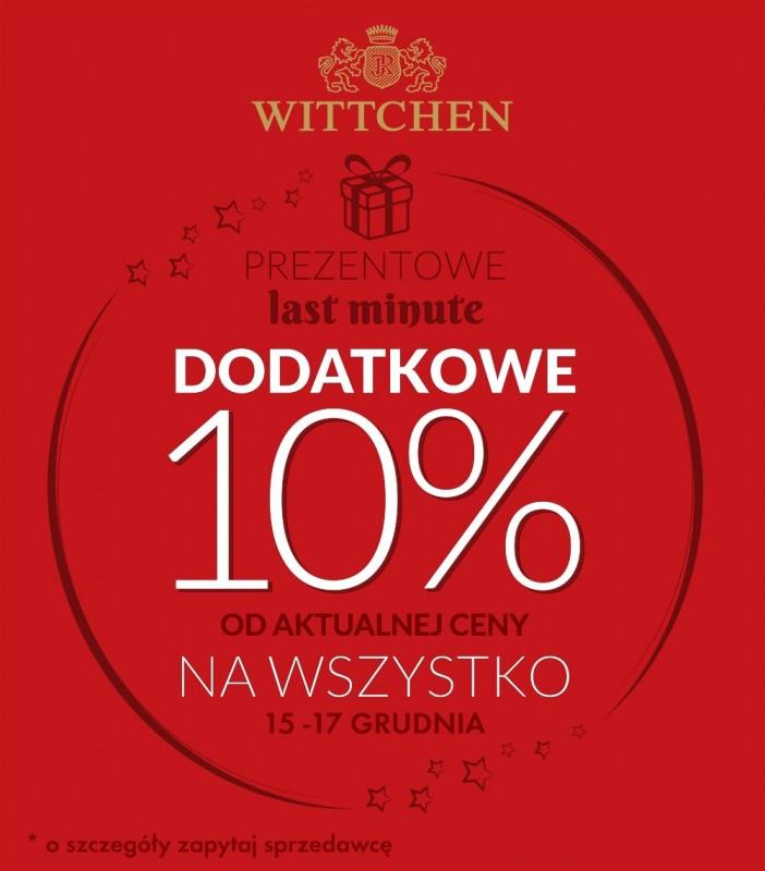 Dodatkowe 10% rabatu na zakupy (obejmuje wyprzedaż) @ Wittchen