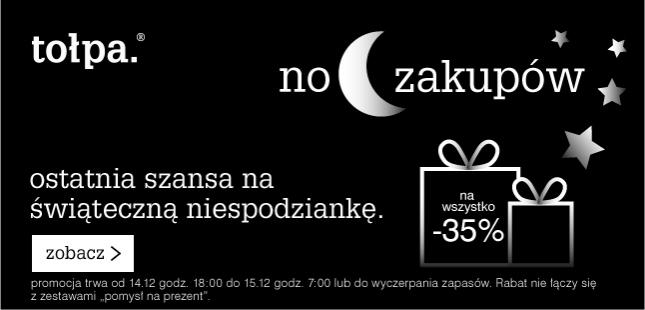 Noc zakupów - 35% rabatu na wszystko + dostawa za 5zł @ Tołpa