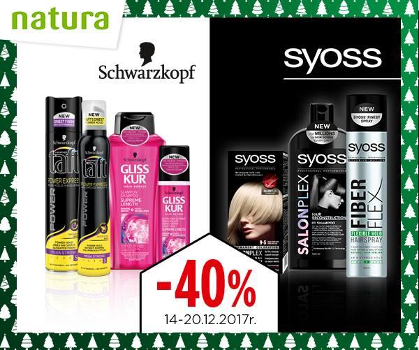40% taniej na  produkty do pielęgnacji i stylizacji włosów