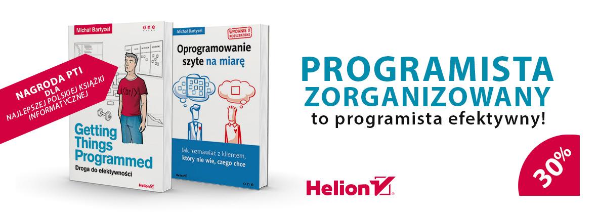 Książki Michała Bartyzela dla programistów - 30%/50%  @ Helion