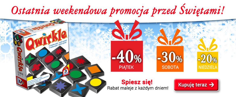 Qwirkle - Weekendowa promocja - Rabat % maleje z każdym dniem!