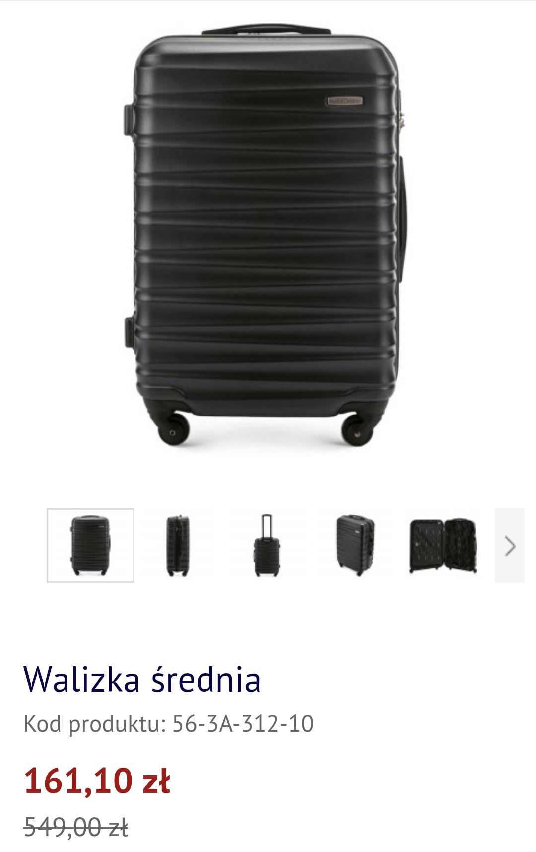 Średnia walizka od Wittchen w dobrej cenie.