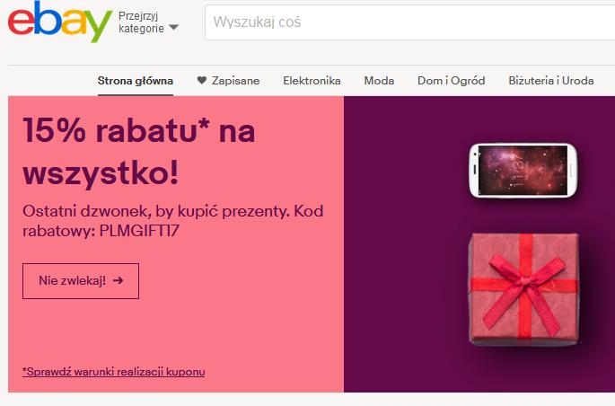 15% rabatu na wszystko na ebay.pl