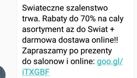 Rabaty do - 70% i darmowa dostawa online!