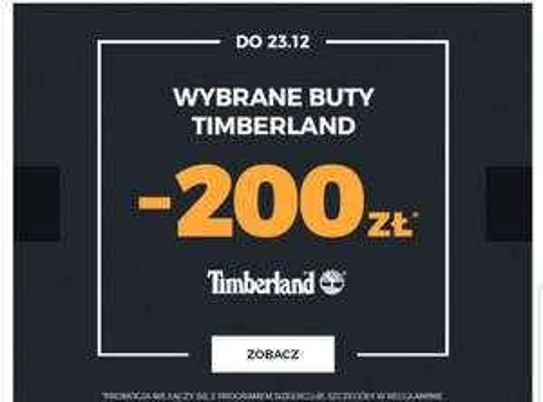 -200 na wybrane buty Timberland Sizeer