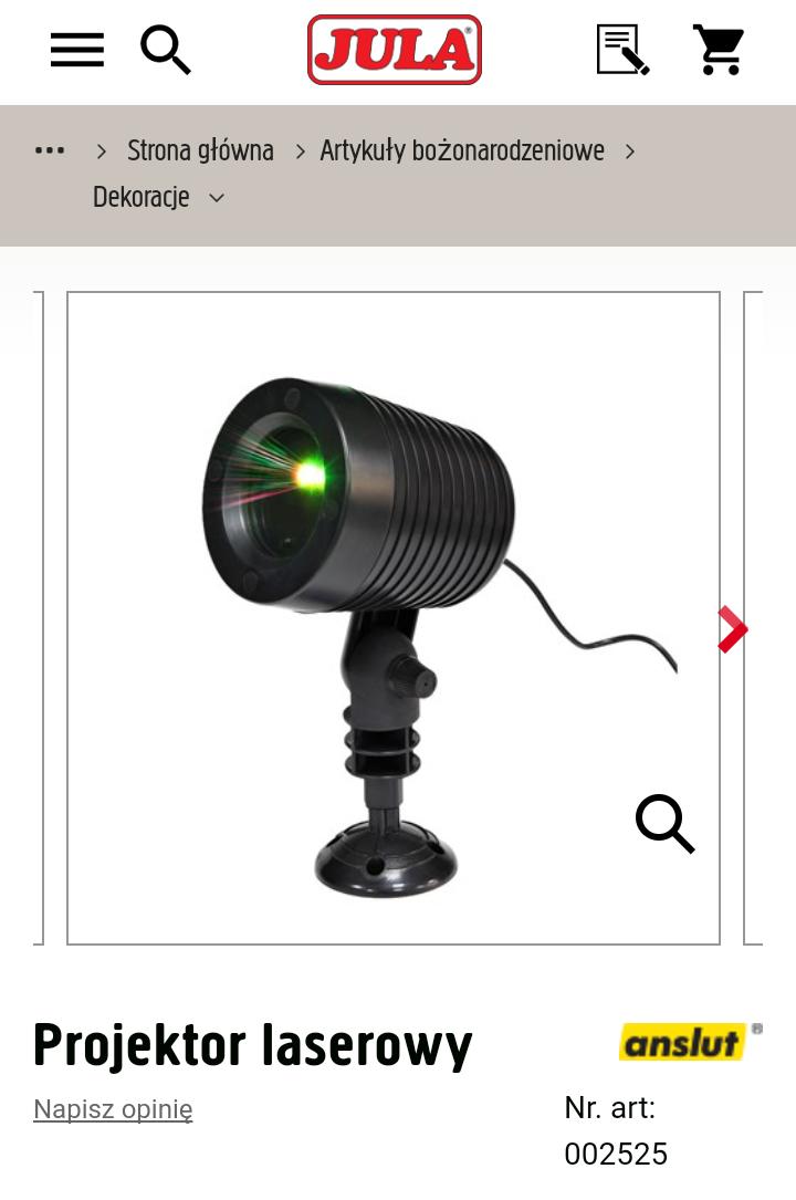 Projektor laserowy [9 funkcji] - JULA
