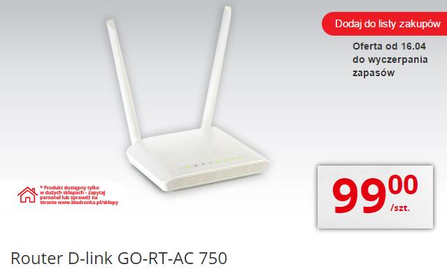 Router D-link GO-RT-AC750 za 99zł @ Biedronka