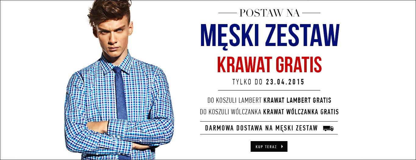Przy zakupie koszuli krawat gratis + darmowa dostawa @ Wólczanka