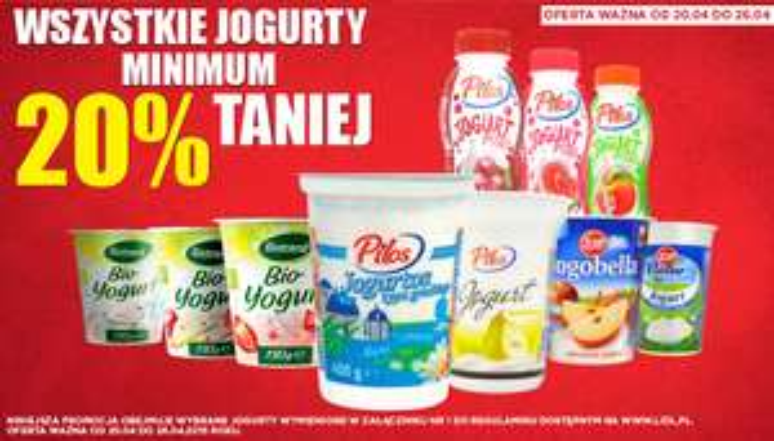 Rabat min. 20% na jogurty @ Lidl