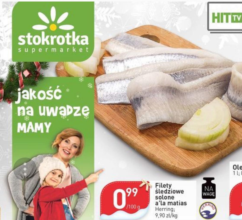 Filety śledziowe solone a'la matias Herring 0,99zł/100g (9,90zł/kg) @ Stokrotka