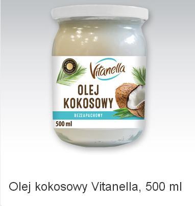 Olej kokosowy Vitanella, 500 ml. Biedronka do 24.12