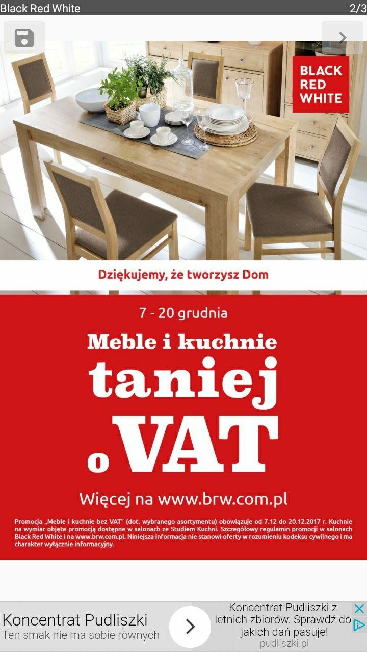 Meble i kuchnie taniej o VAT