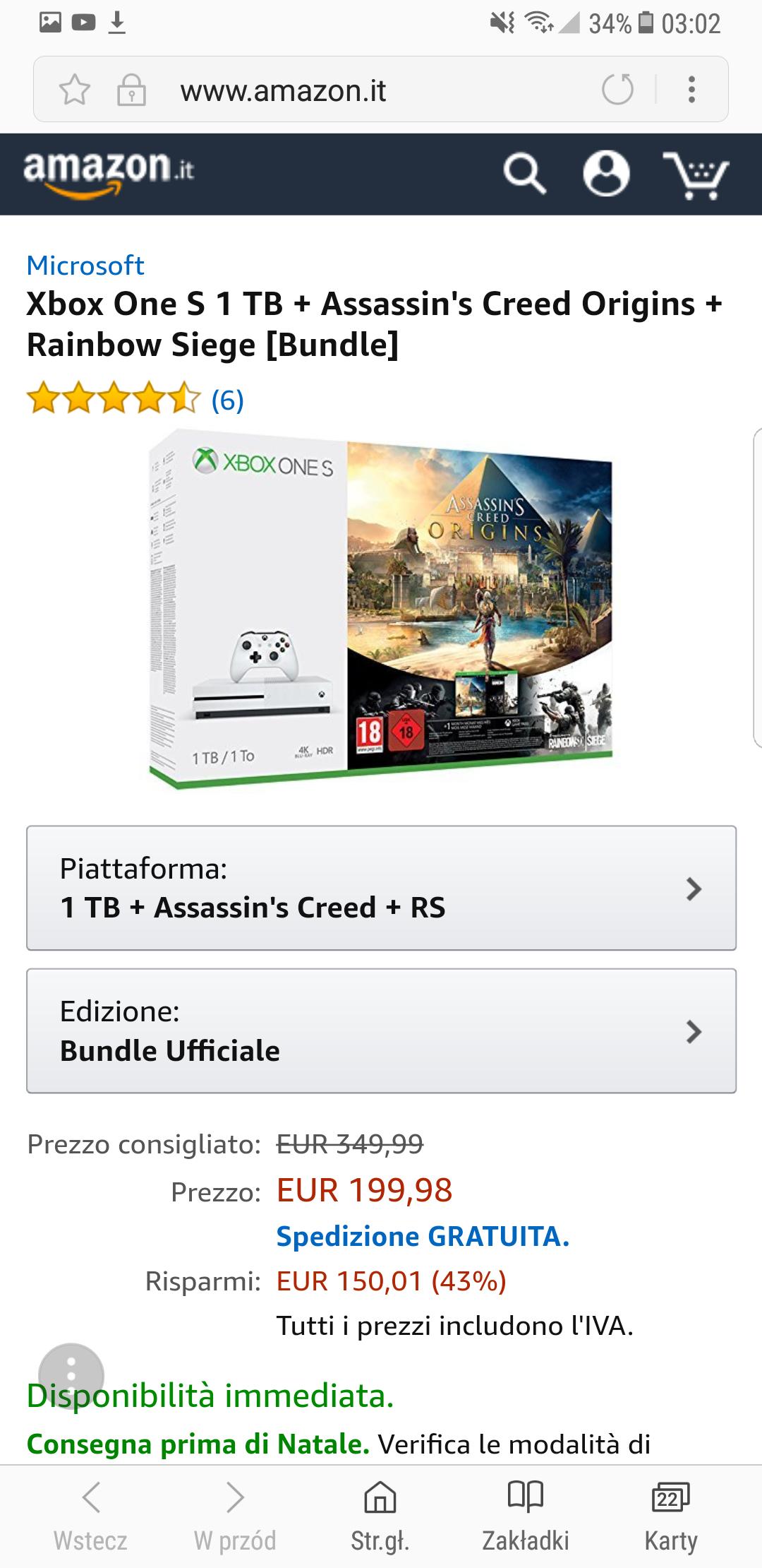 Xbox One 1TB +Assasin Creed
