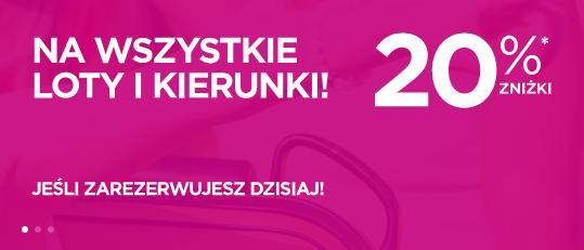 Wizz Air: 20% zniżki na bilety dla wszystkich