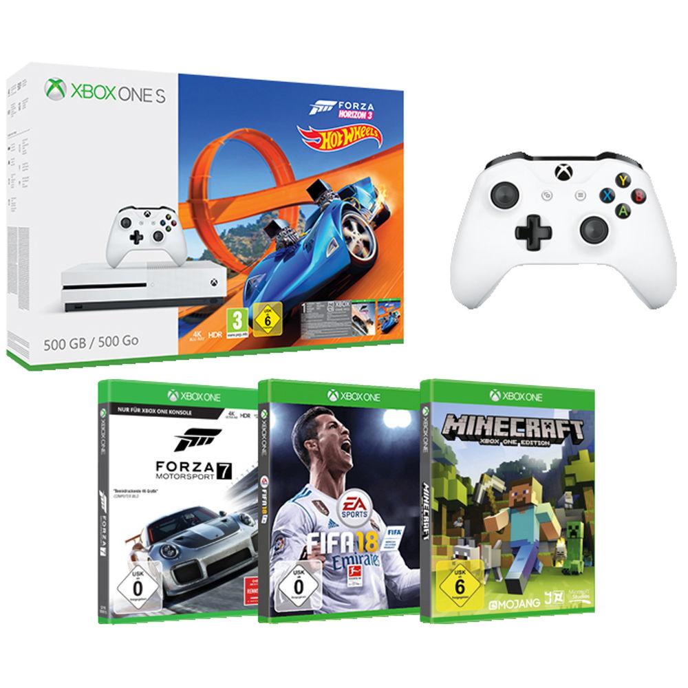 Xbox ONE S - FZ3, FORZA 7, MINECRAFT, FIFA 2018 + 2-gi kontroler
