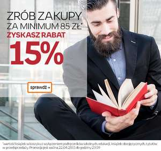 15% rabatu na książki @ Empik.com