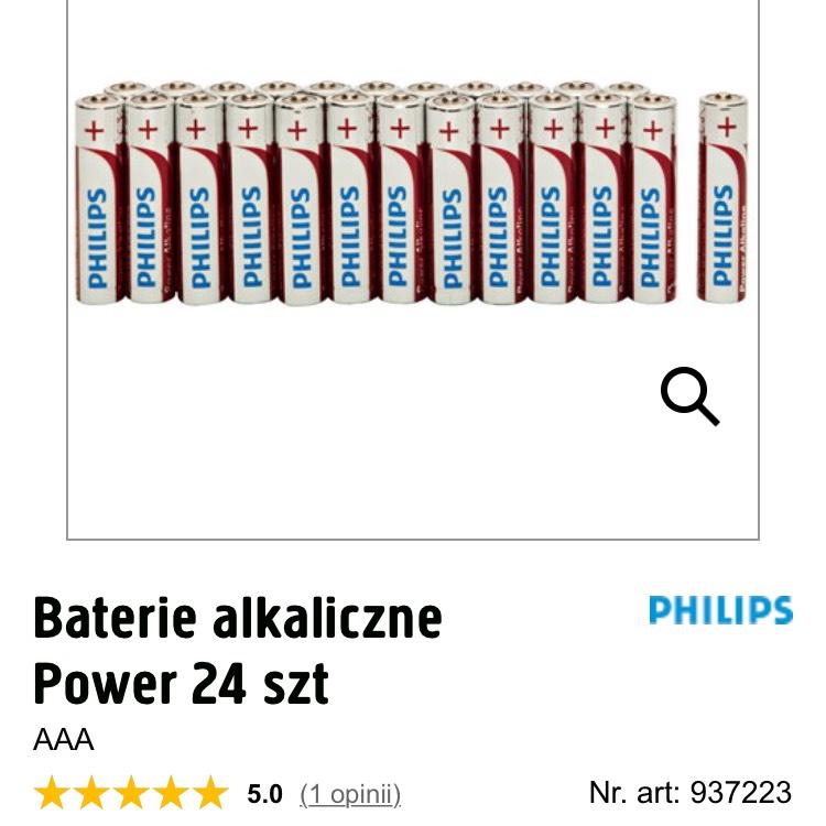 Baterie 24 szt. AA lub AAA Philips